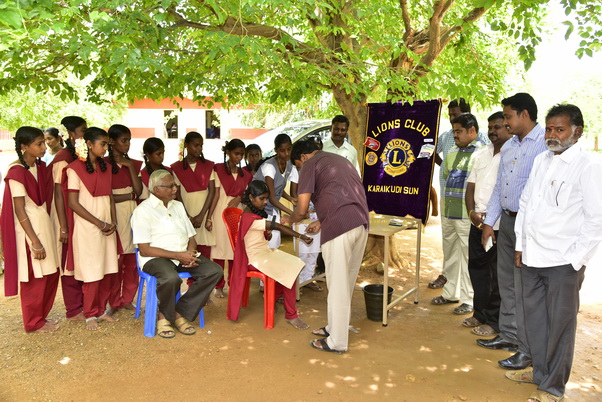 LIONS CLUB OF KARAIKUDI SUN's inspire year signature project