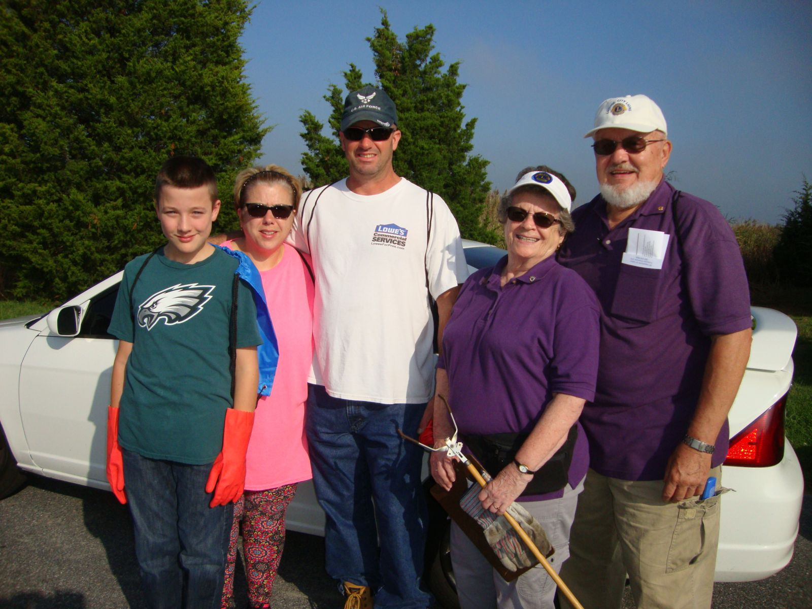 The Capitol City Lions members assisted the coastal cleanup on 16 September 2017 at Pickering Beach.  It was an enjoyable day spent working on a beach ingreat weather for a worthwhile project.  From left, Chad Martin, Lions Vickie Martin, Steve Martin, Joyce Damask and Warren Fairess.