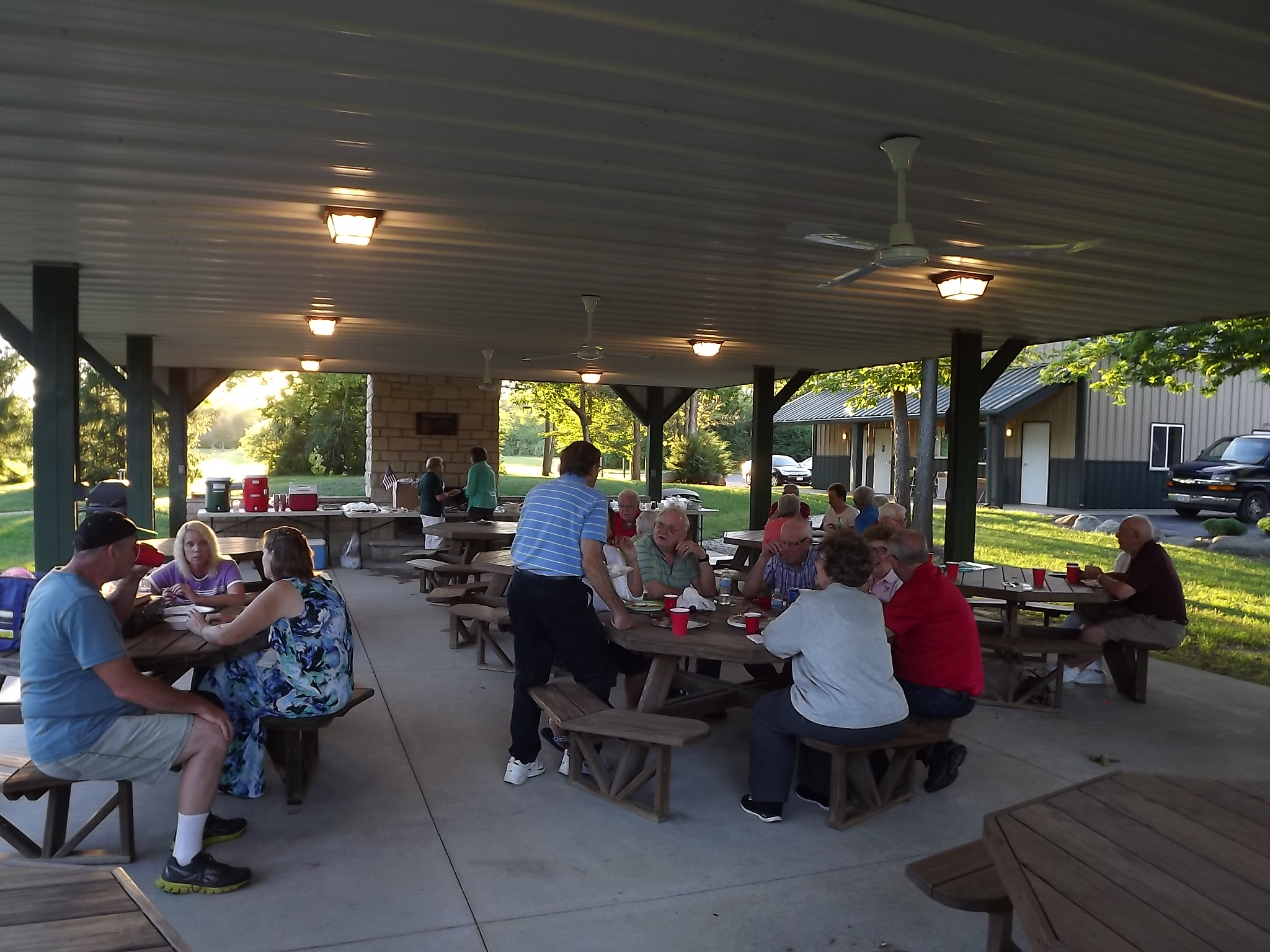 Another view of our September cookout.