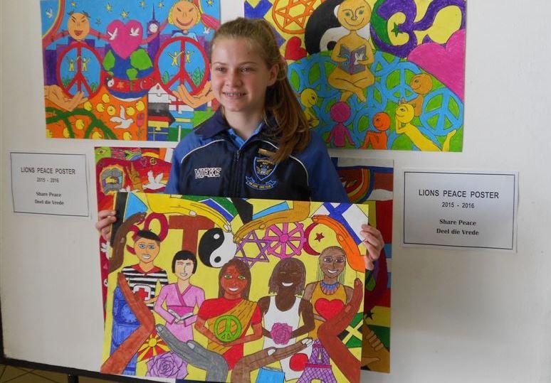 2015 Peace Poster joint first prize winner Mieke van der Merwe