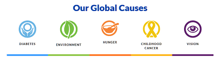 Our Global Causes, Diabetes, Environment, Hunger, Childhood Cancer, and Vison