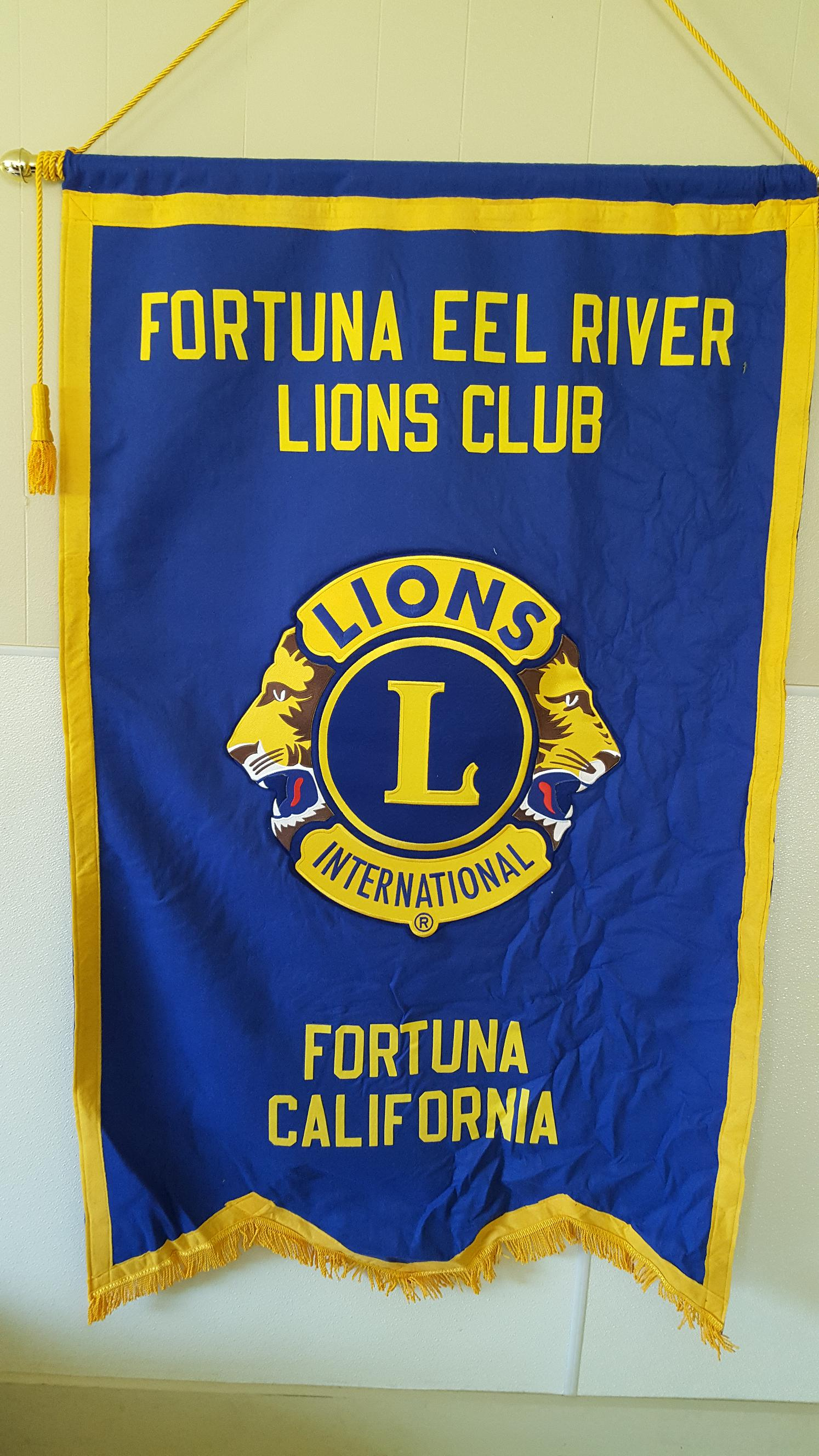 Fortuna-Eel River Lions Club Banner