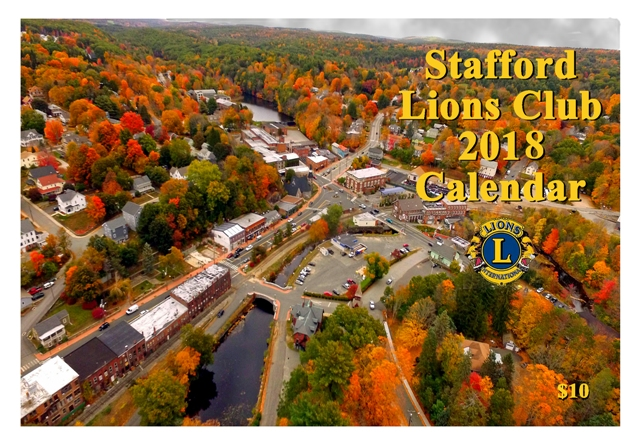 2018 Stafford Lions Club Calendar cover