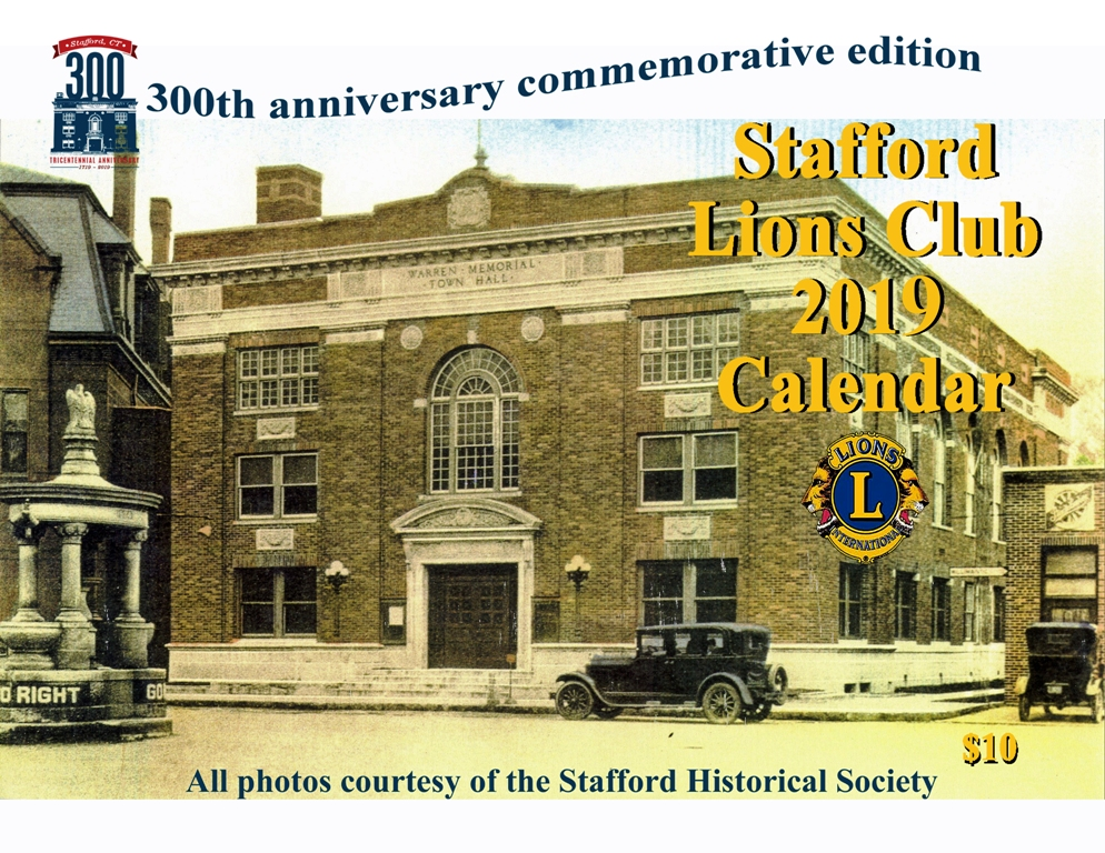 Stafford Lions Club 2019 calendar front cover