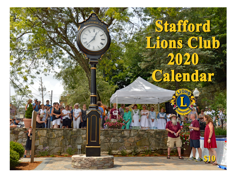 Stafford Lions Club 2020 Calendar cover