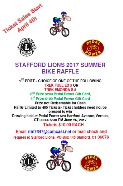 2017 Bike Raffle Poster