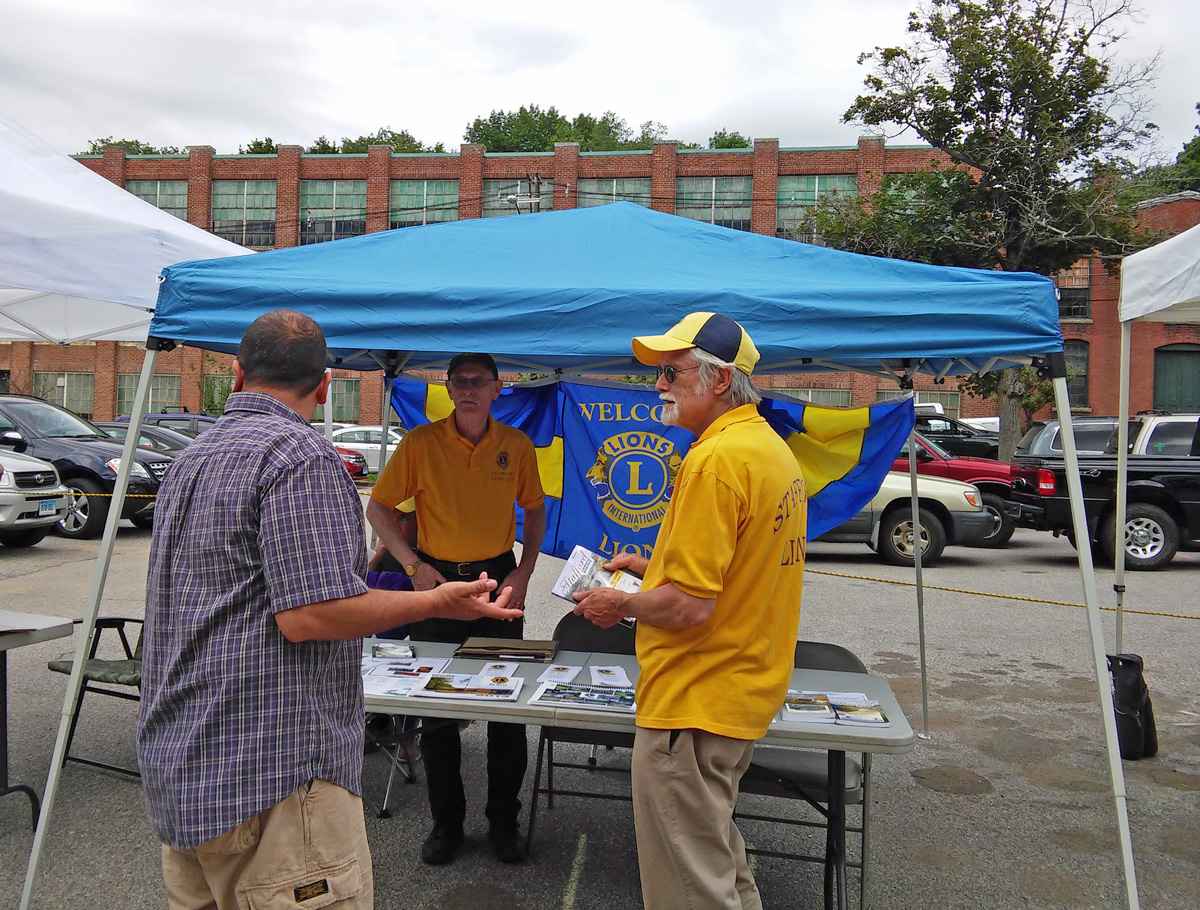 Stafford Lions Club booth at Farmer Market opening day 2015