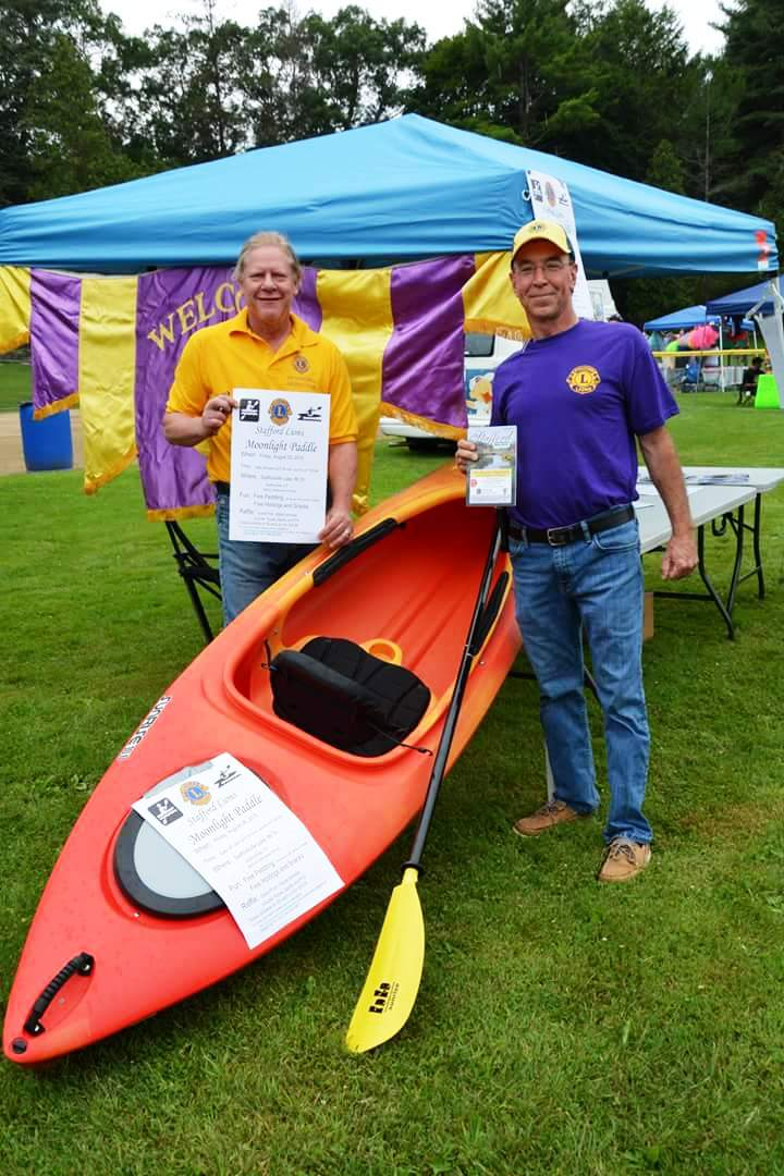 Stafford Lions Club Booth at 2015 Stafford Summerfest