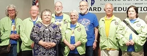 Photo of some members of the Federal Way Lions Club in 2019.