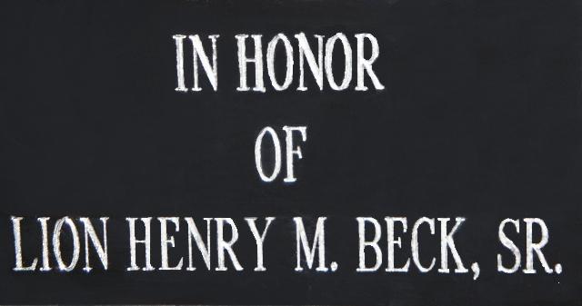 Henery Beck SR. Palque