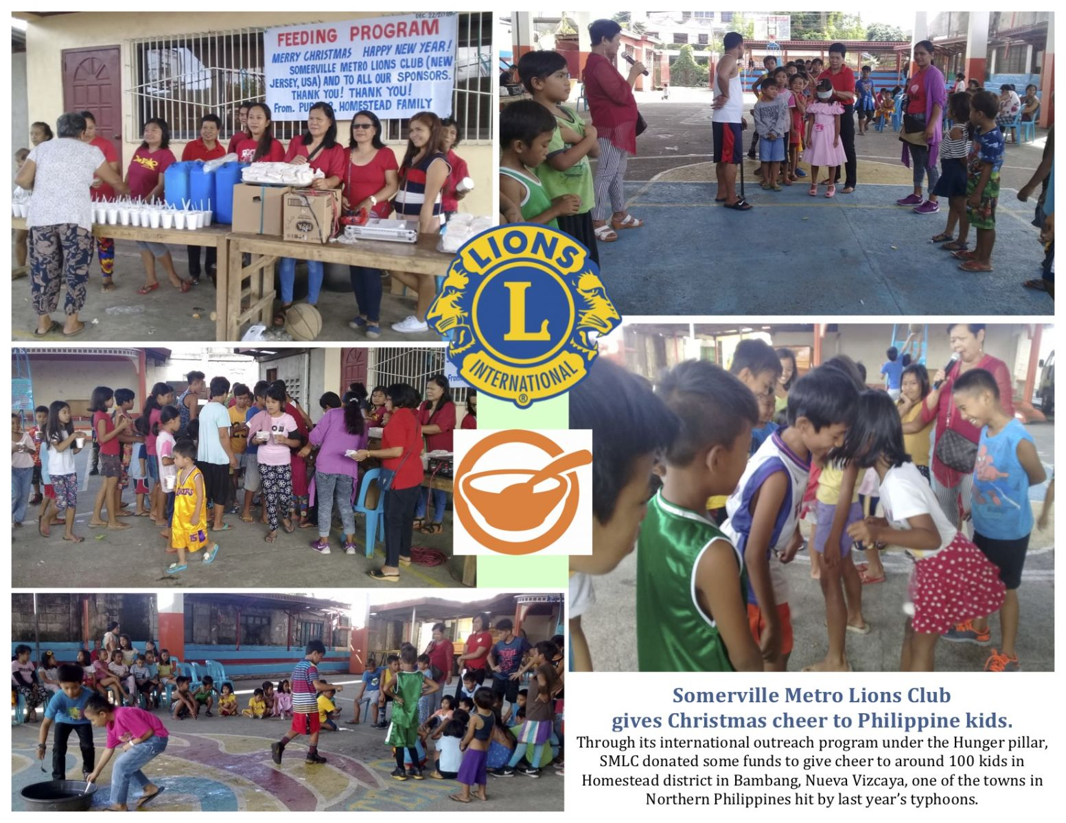 SMLC donated to the Phillippines