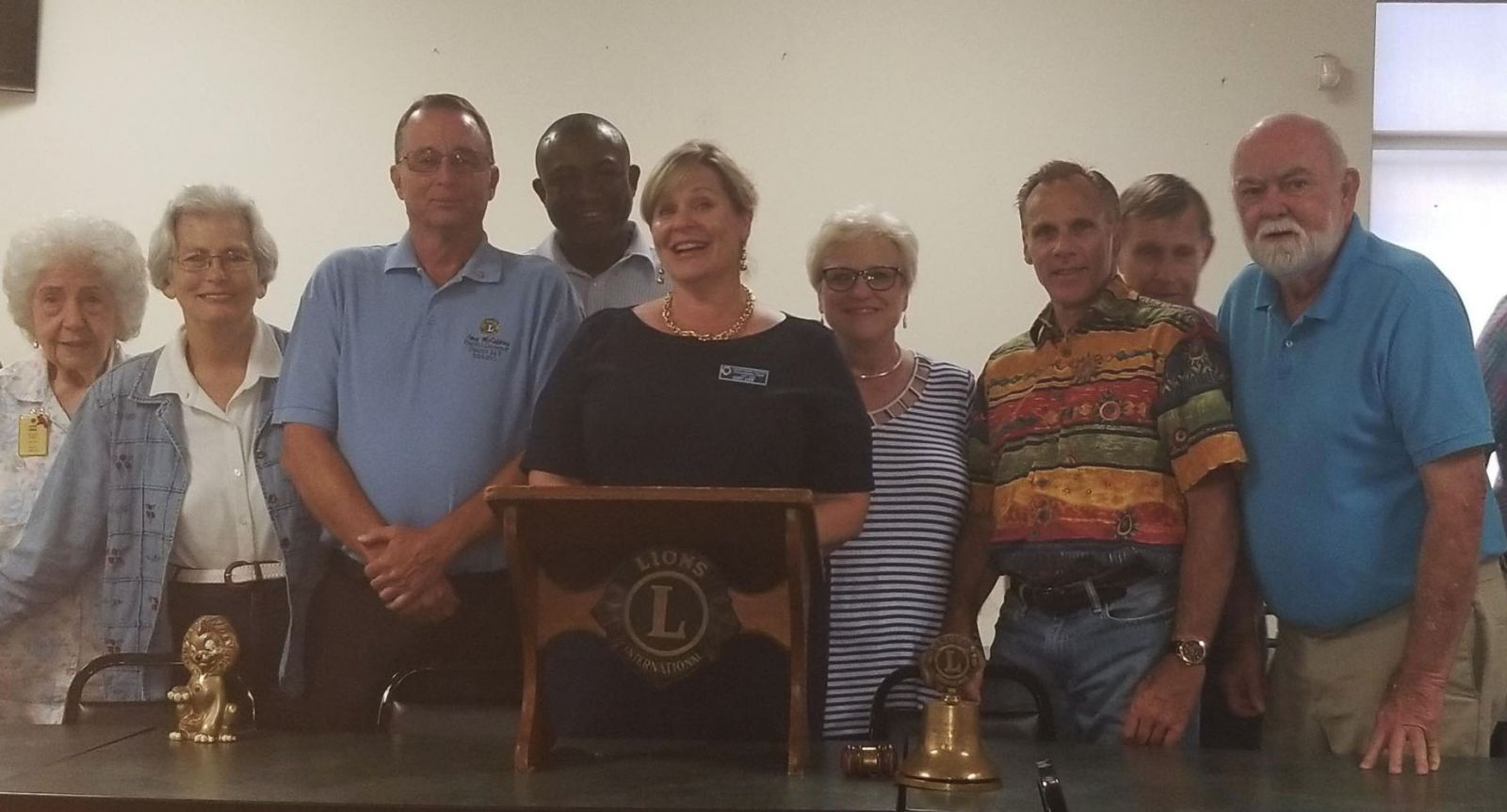 New President, Vickie Love and Officers 2018-2019