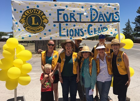 The Fort Davis Lions Club supports the Fort Davis ISD Higher Education Foundation through donations and participation in the Color Run.