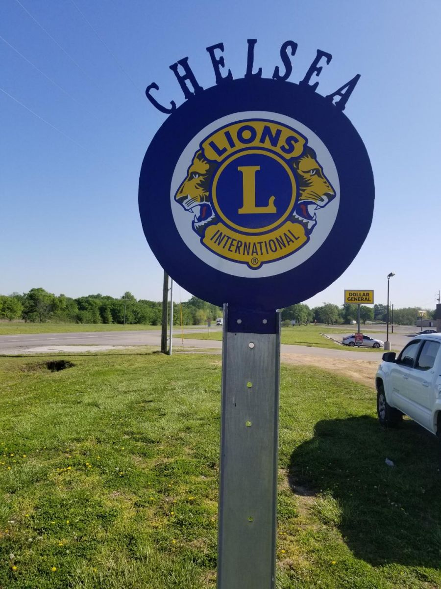 Club Sign Placed on Route 66 in Chelsea