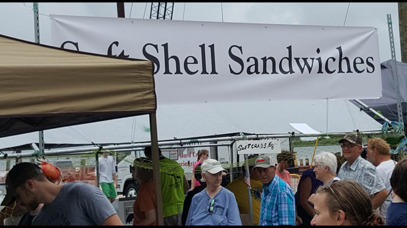 Crowd at the annual Soft Shell Festival