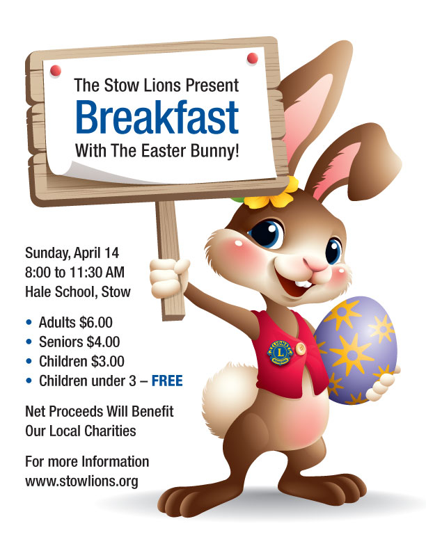 Stow Lions Club Breakfast with the Easter Bunny