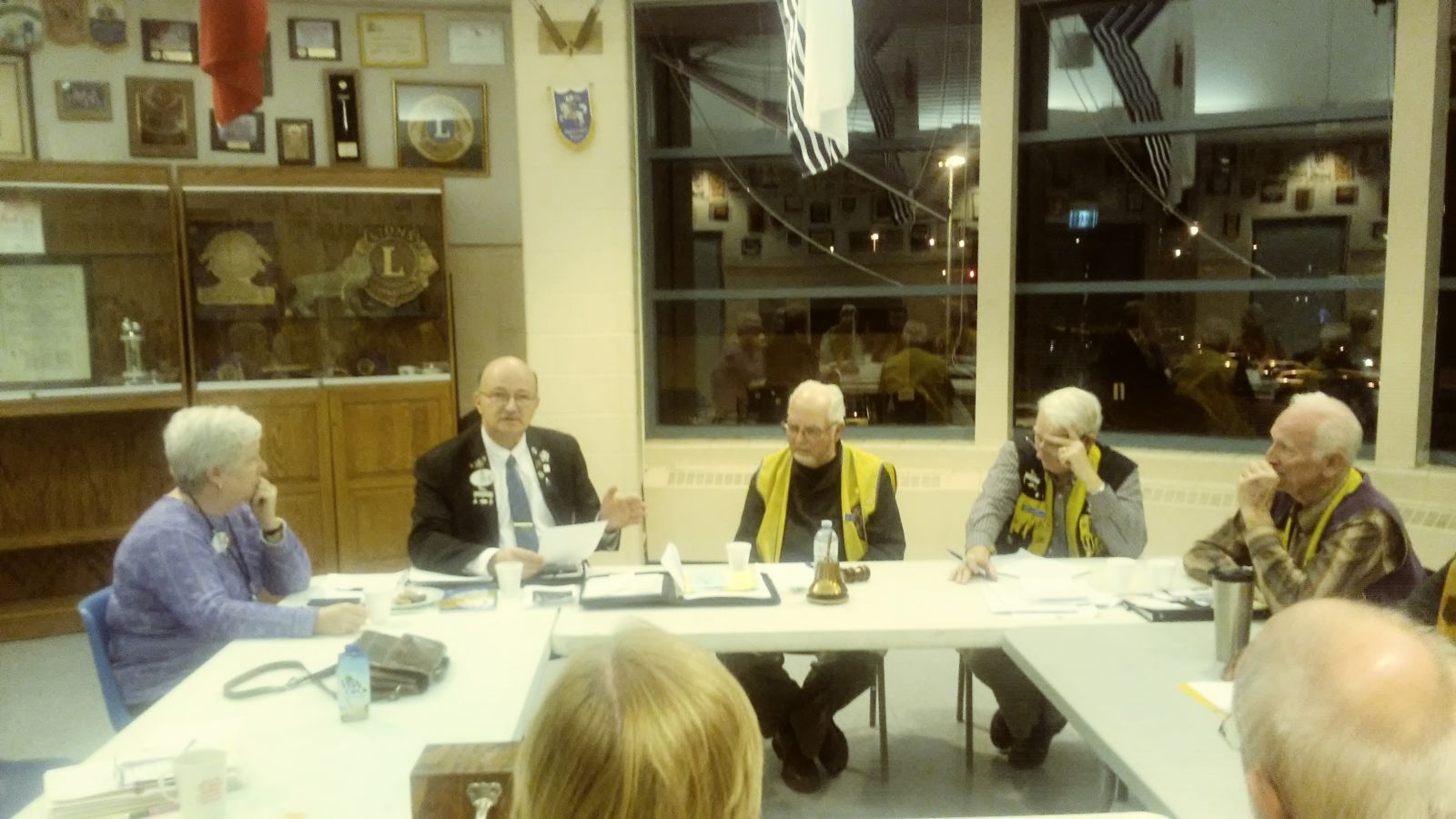 Lion District Governor Jeffrey Friedman, and Mrs. Friedmen graced our meeting