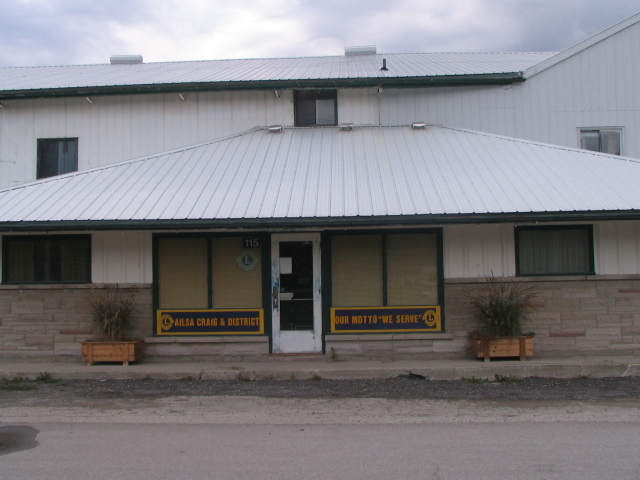 Ailsa Craig & District Lions Club - Clubhouse