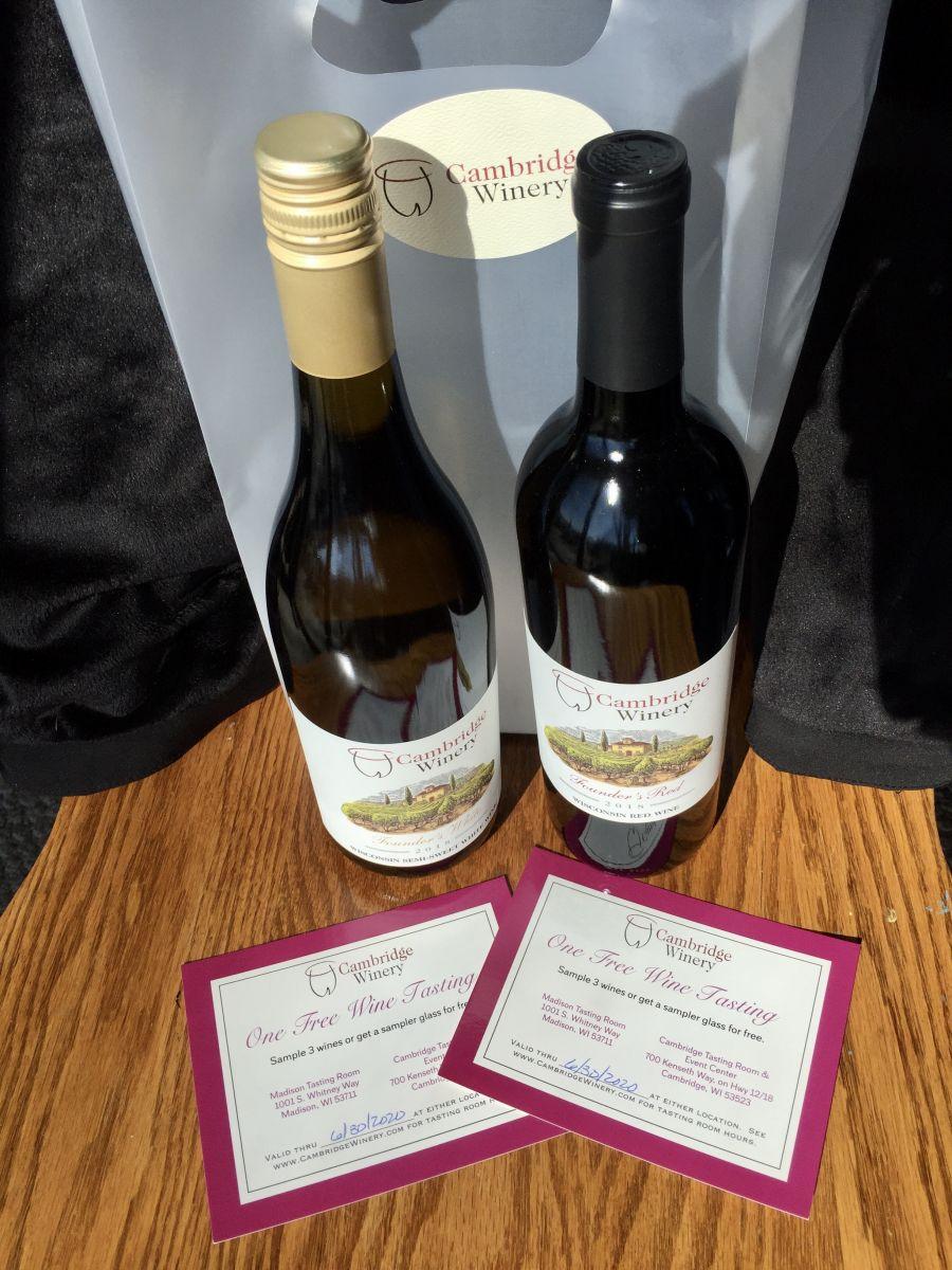 Cambridge Winery wine & wine tasting gift certs