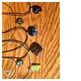 Fused glass necklaces by Laurie Struss