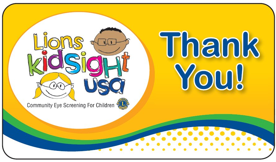 Lions KidSight USA Sticker