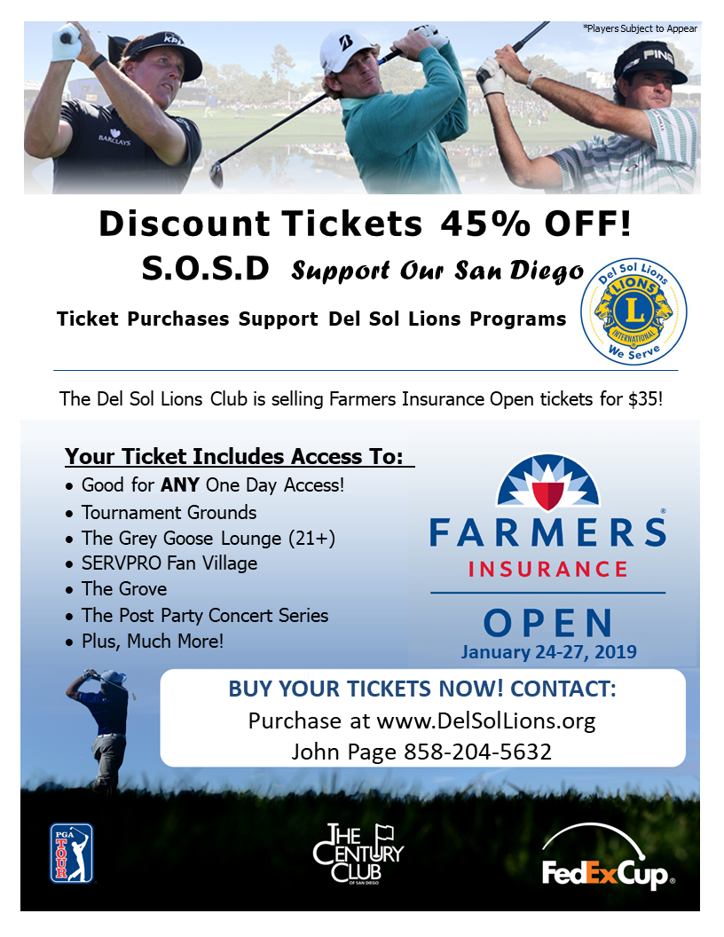 Farmers Open January 24 through 27, 2019