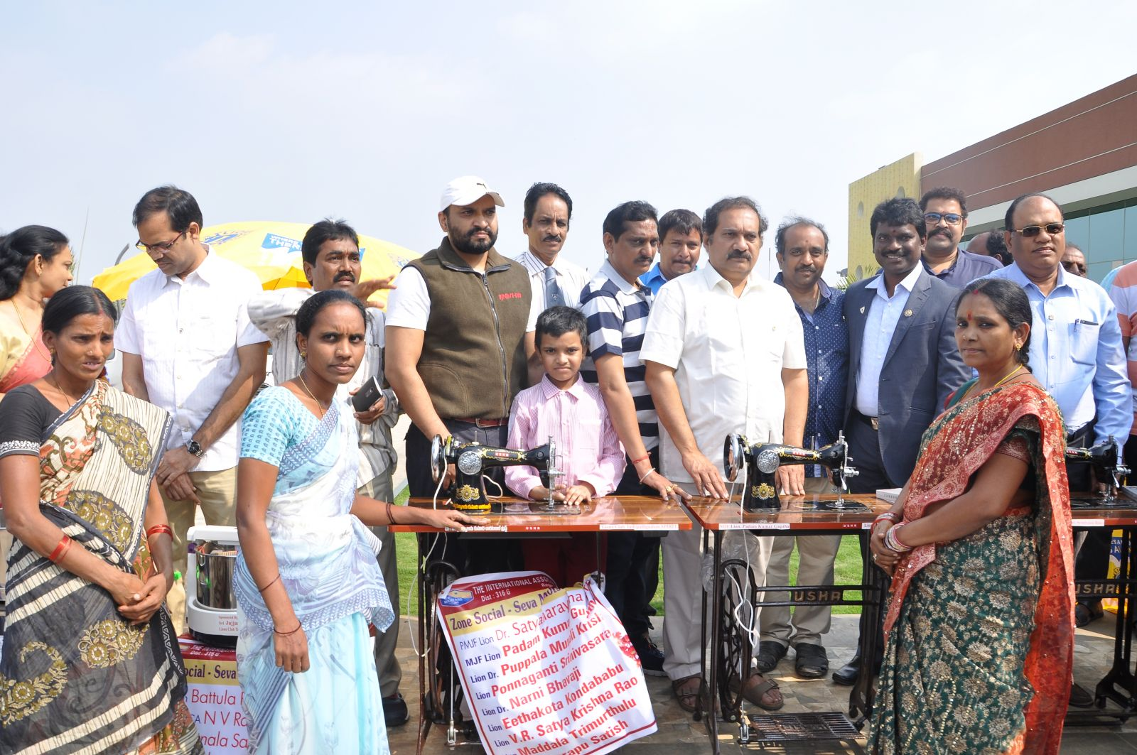 Distribution of Sewing Machines to poor family for support of