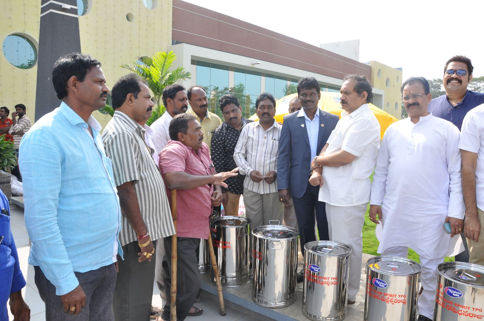 Donated 10 Steel Drums for FOOD Collection of No Food Waste