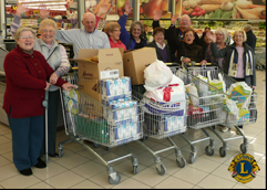 Lions provide food for Caritas