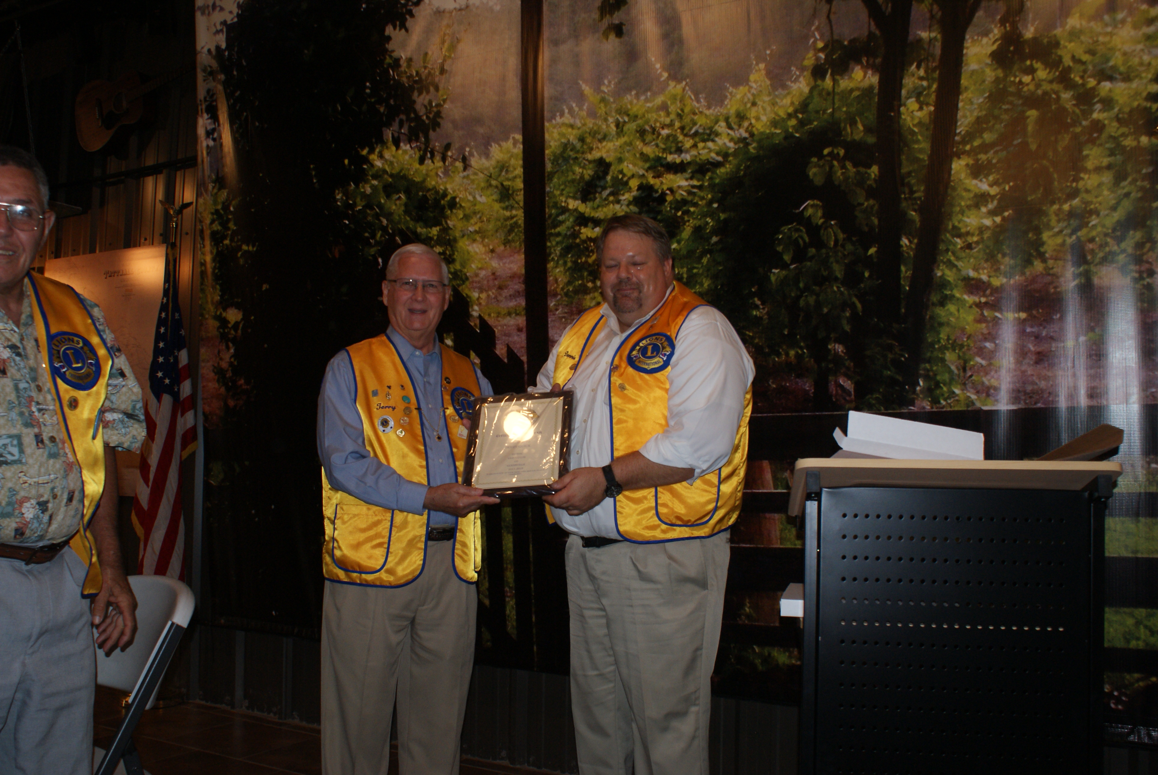 Lion Terry Quick, Glennville Lions Club Citizen of TheYear 2014-2015