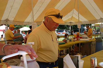 Membership chair Bob Speziale during our Fleamarket