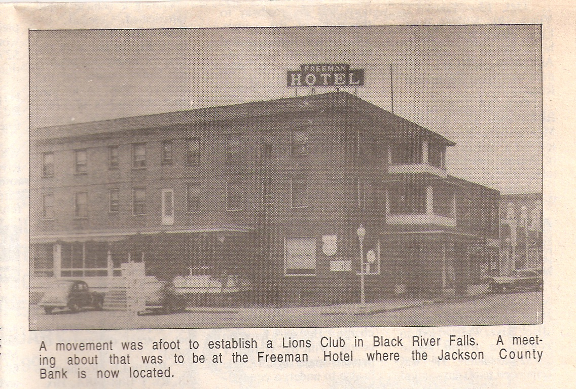 Freeman Hotel - clipping from Oct. 22, 1997 Banner Journal