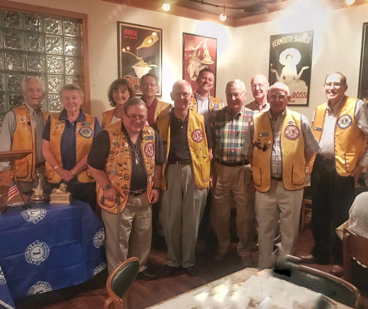 Seneca Lions officers for 2018 - 19