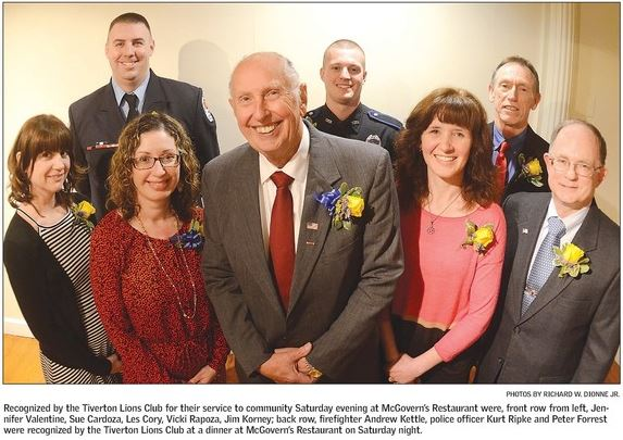 Tiverton Lions 2016 Honorees