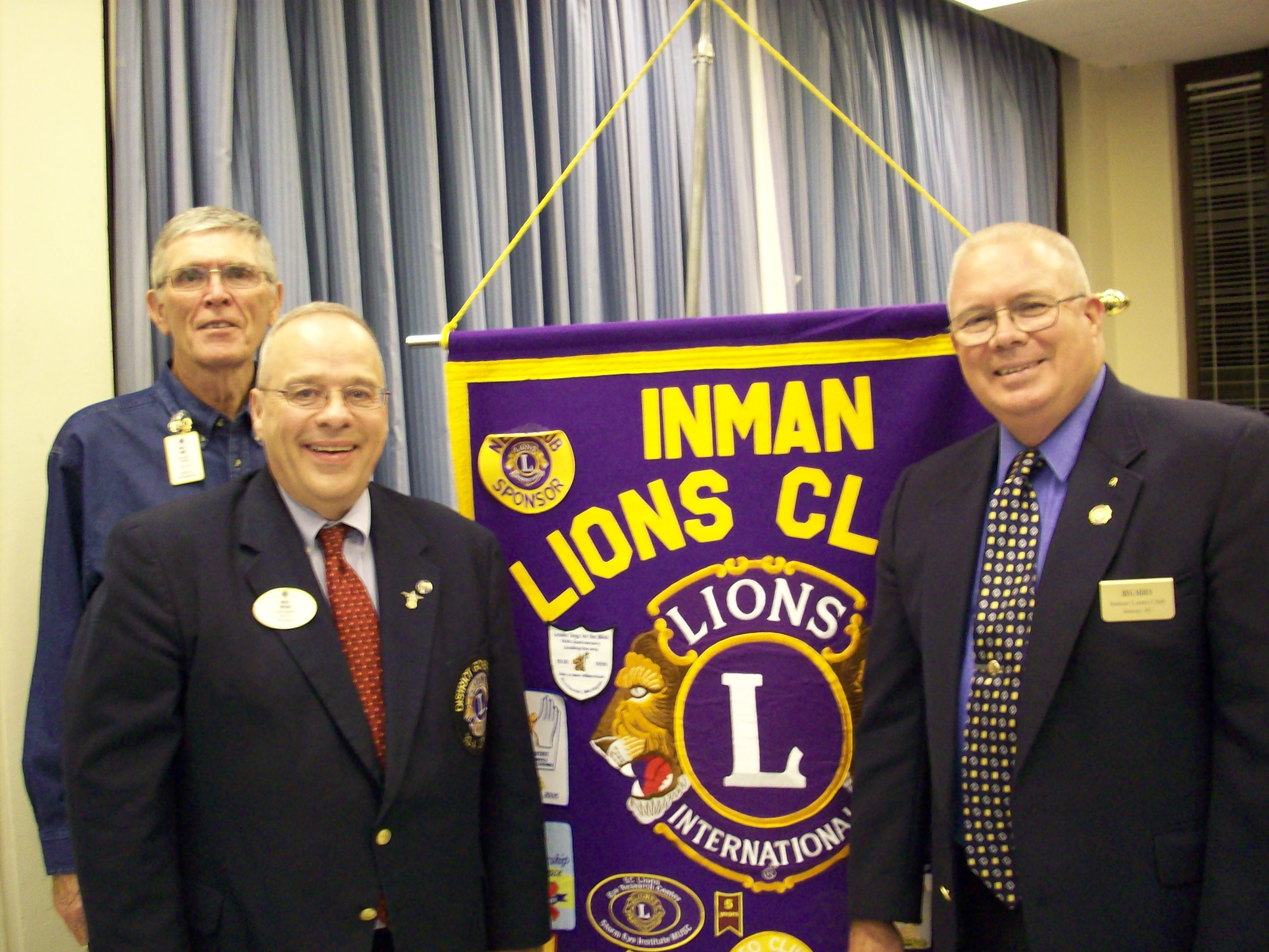 District Governor Lion Dr. Keith Taylor - ILC President Lion Reg Sides