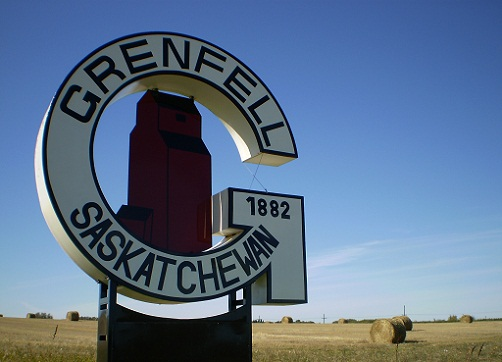 Town of Grenfell Welcoming Signs