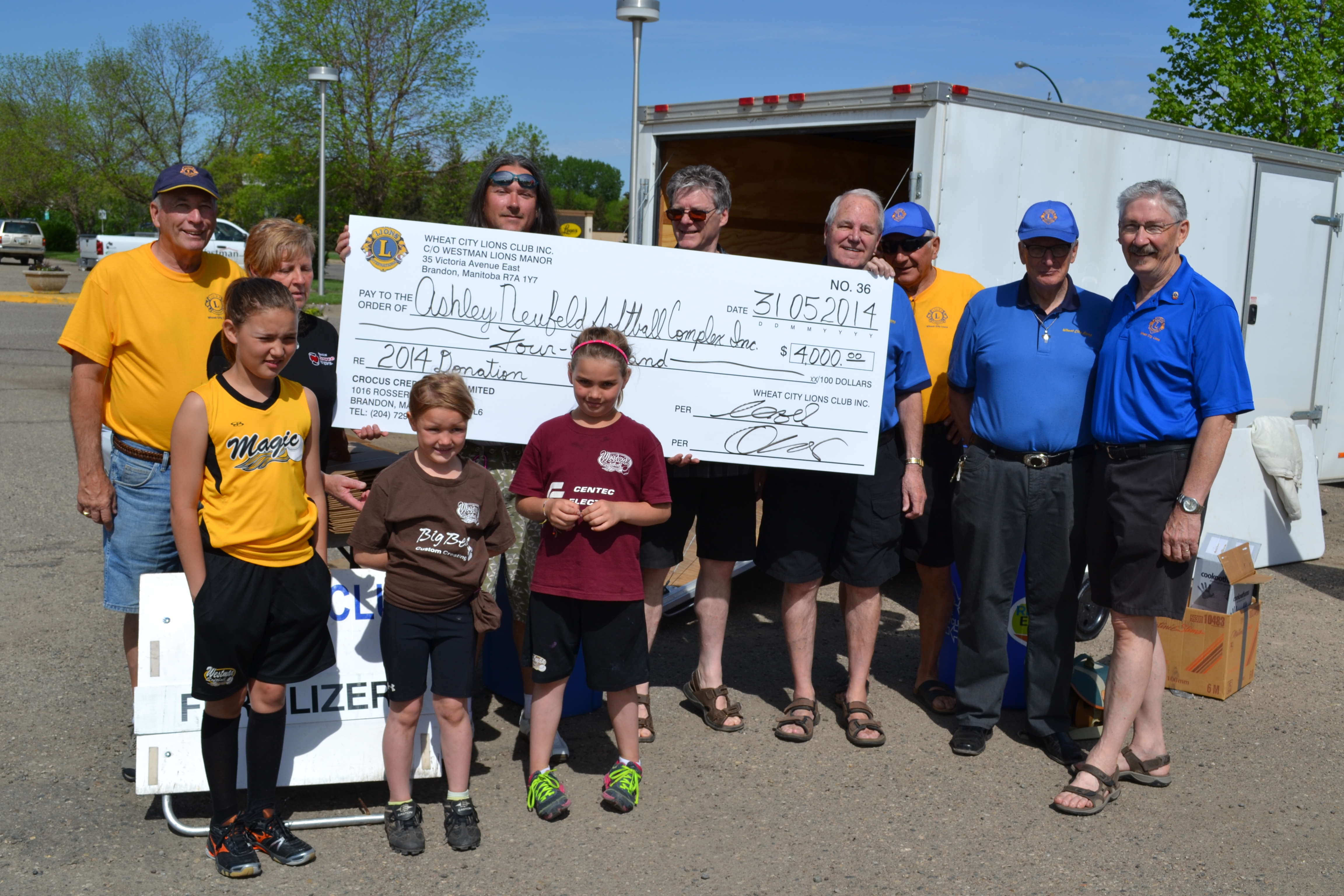 $4,000 Donation to Ashley Neufeld Softball Complex Inc., Year1 of a 5 year commitment