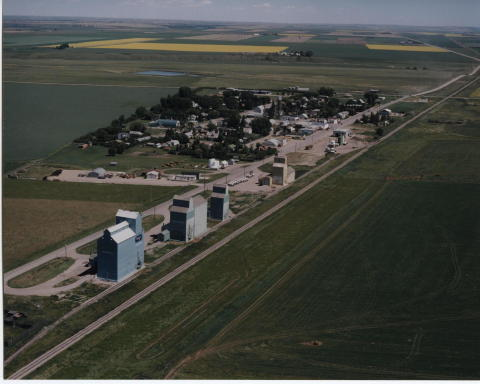 Aerial view of the Village of Arrowwood