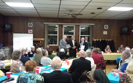 Lion Kenny Vance & Lion Harold Crist receive 50-year chevrons