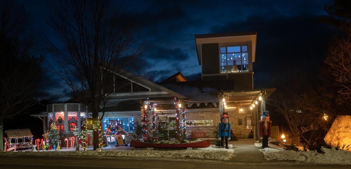 Port Carling Lions Club Christmas Spirit display 2020 -photo credit Arlene Burley Photography