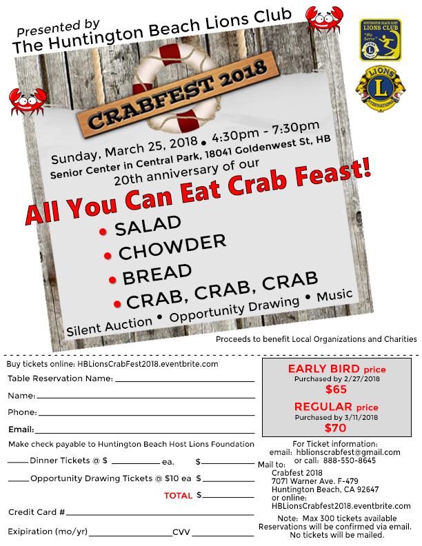 Crabfest 2018 Flyer