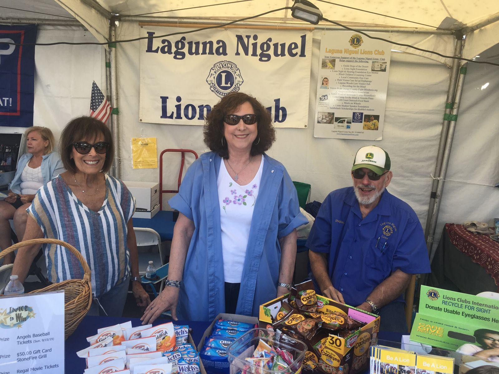 Lions Fundraising Booth - 8 17 19 Laguna Niguel Fair 30th anniversary