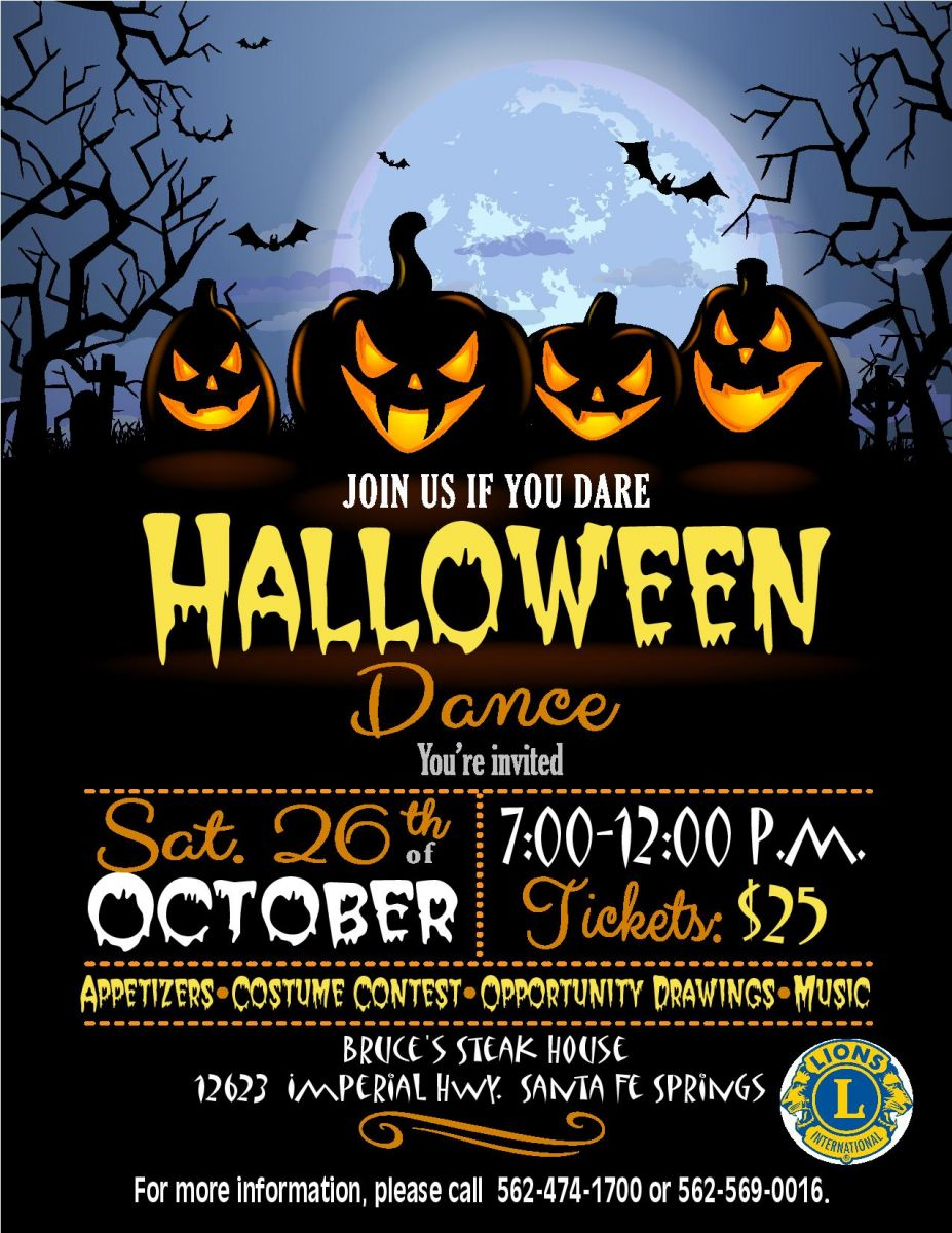 Lions Club Halloween Dance 2019