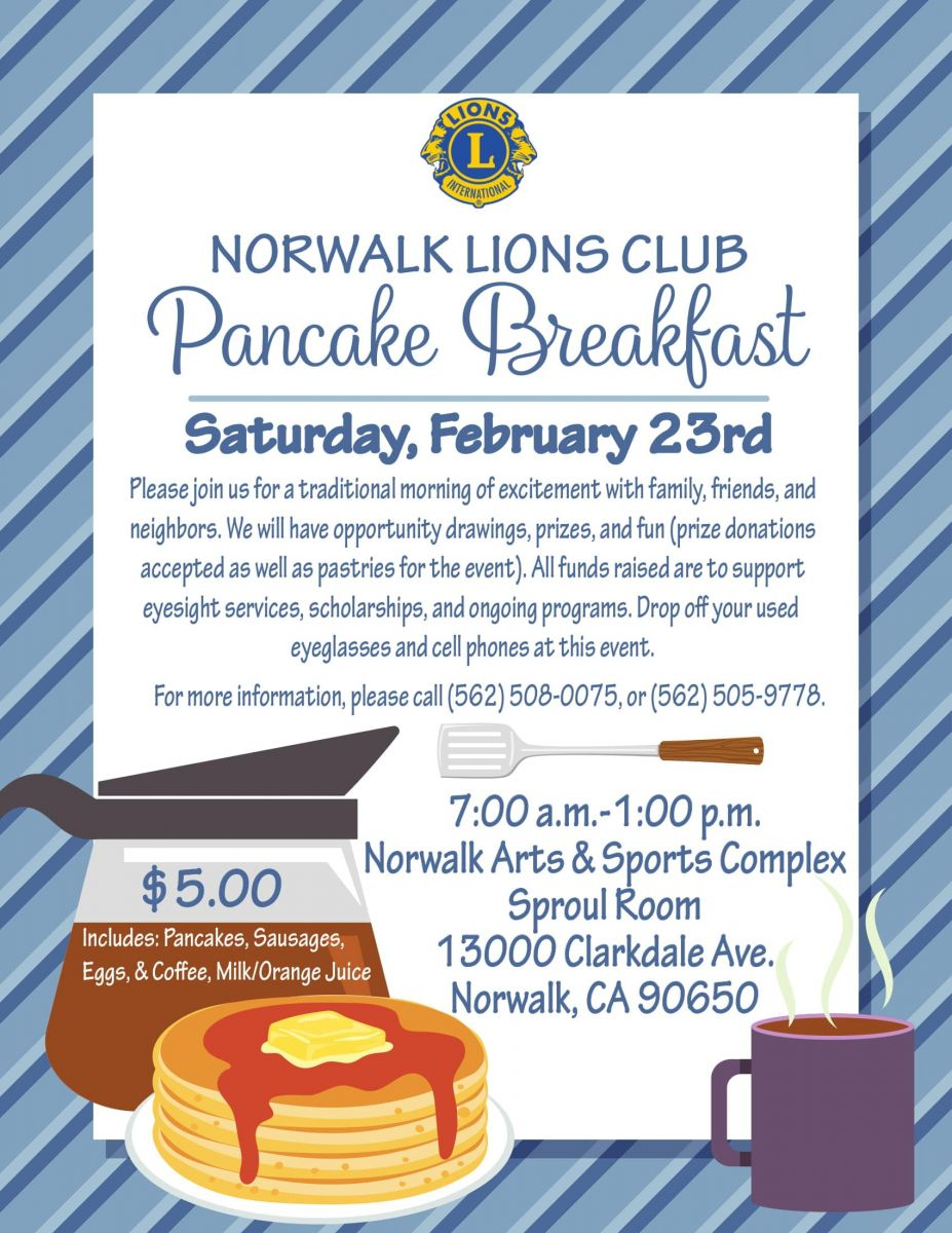 Norwalk Lions Club Pancake Breakfast