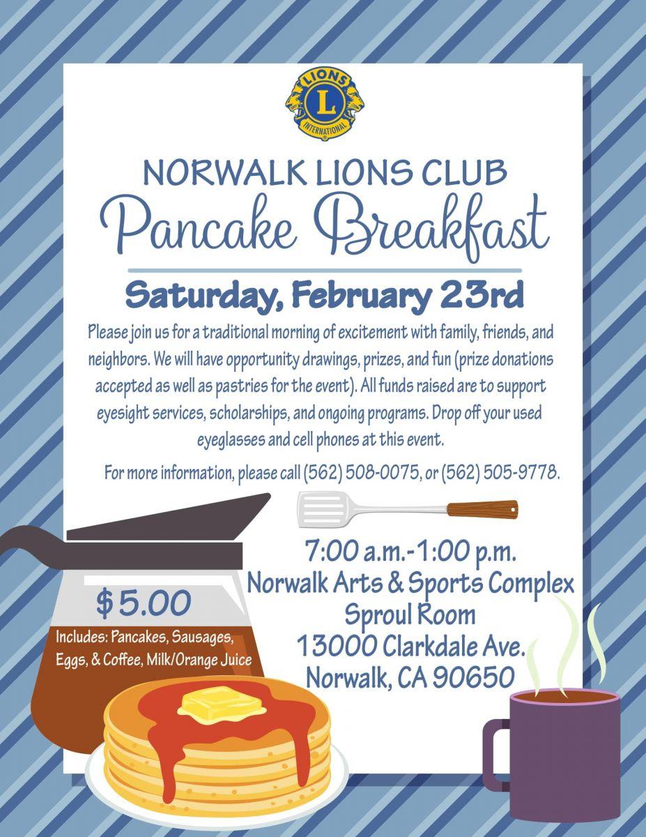 Norwalk Lions Club Pancake Breakfast