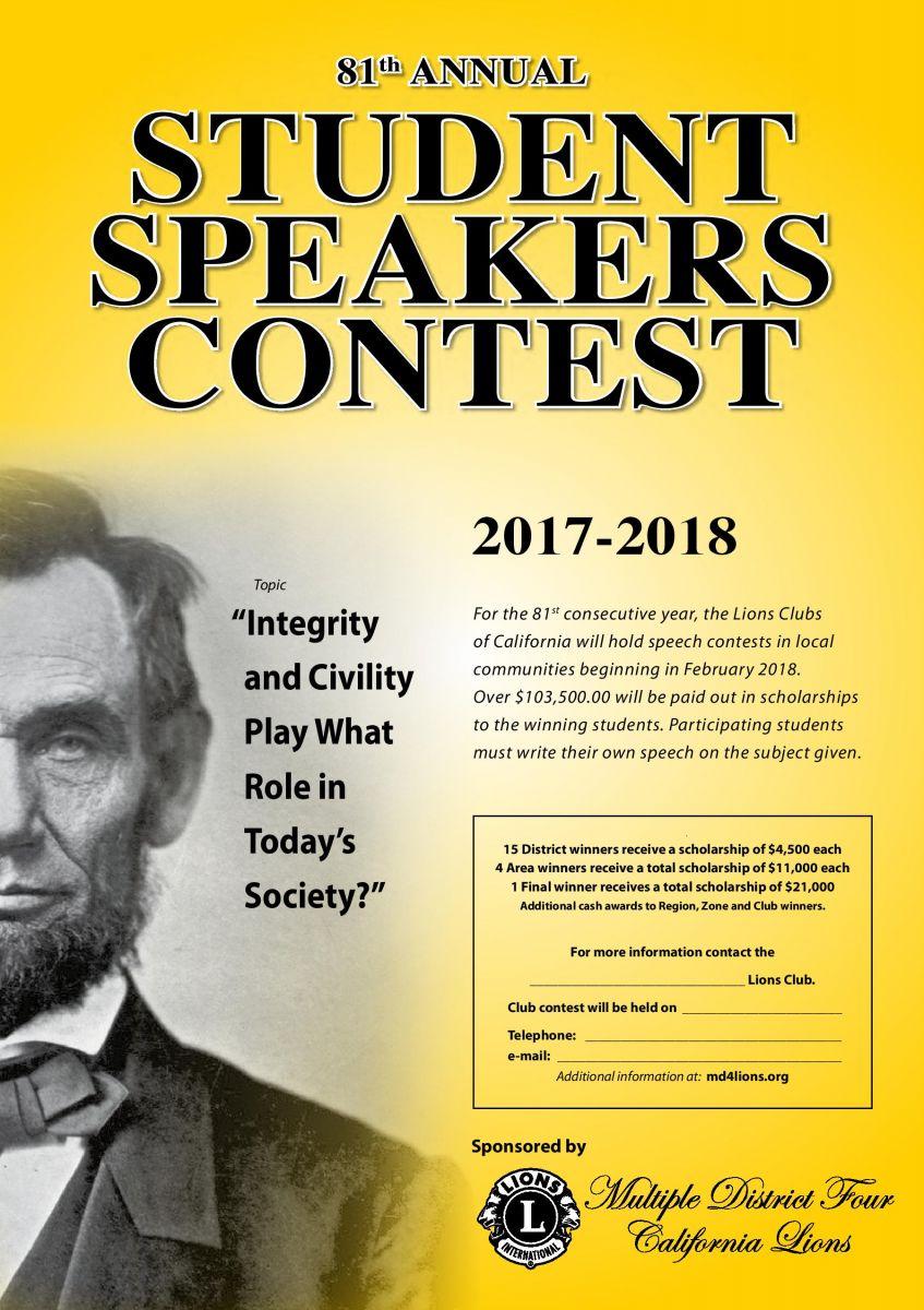 Poster Speech Contest 2018