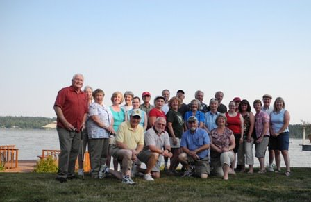 Olympia Host Lions Club members gather at a member's home for a day of fun.