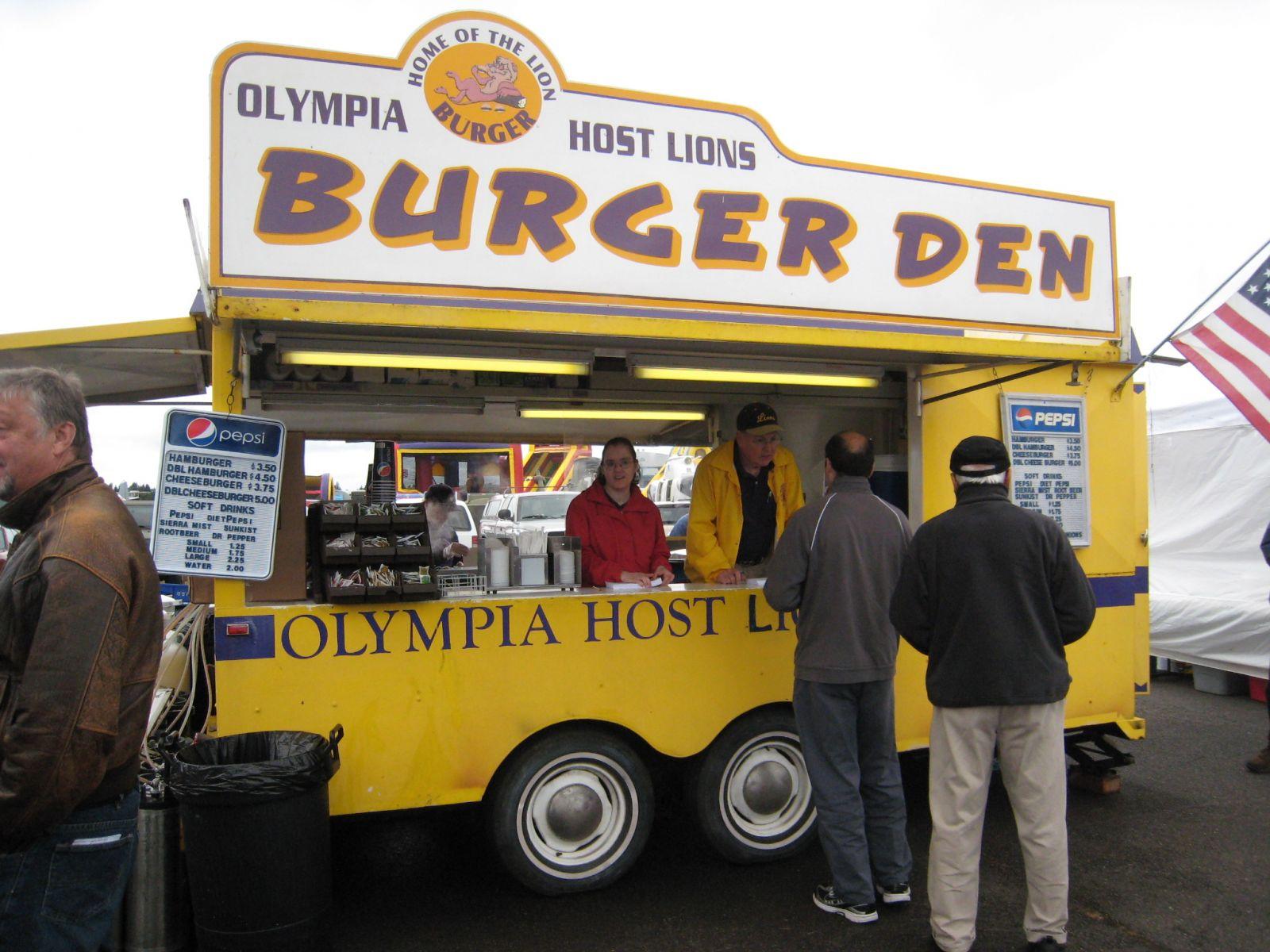 Olympia Host Burger Den