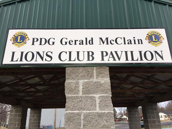 Park Pavilion sign