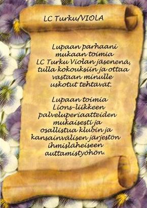 LC Turku / Violan jäsenlupaus